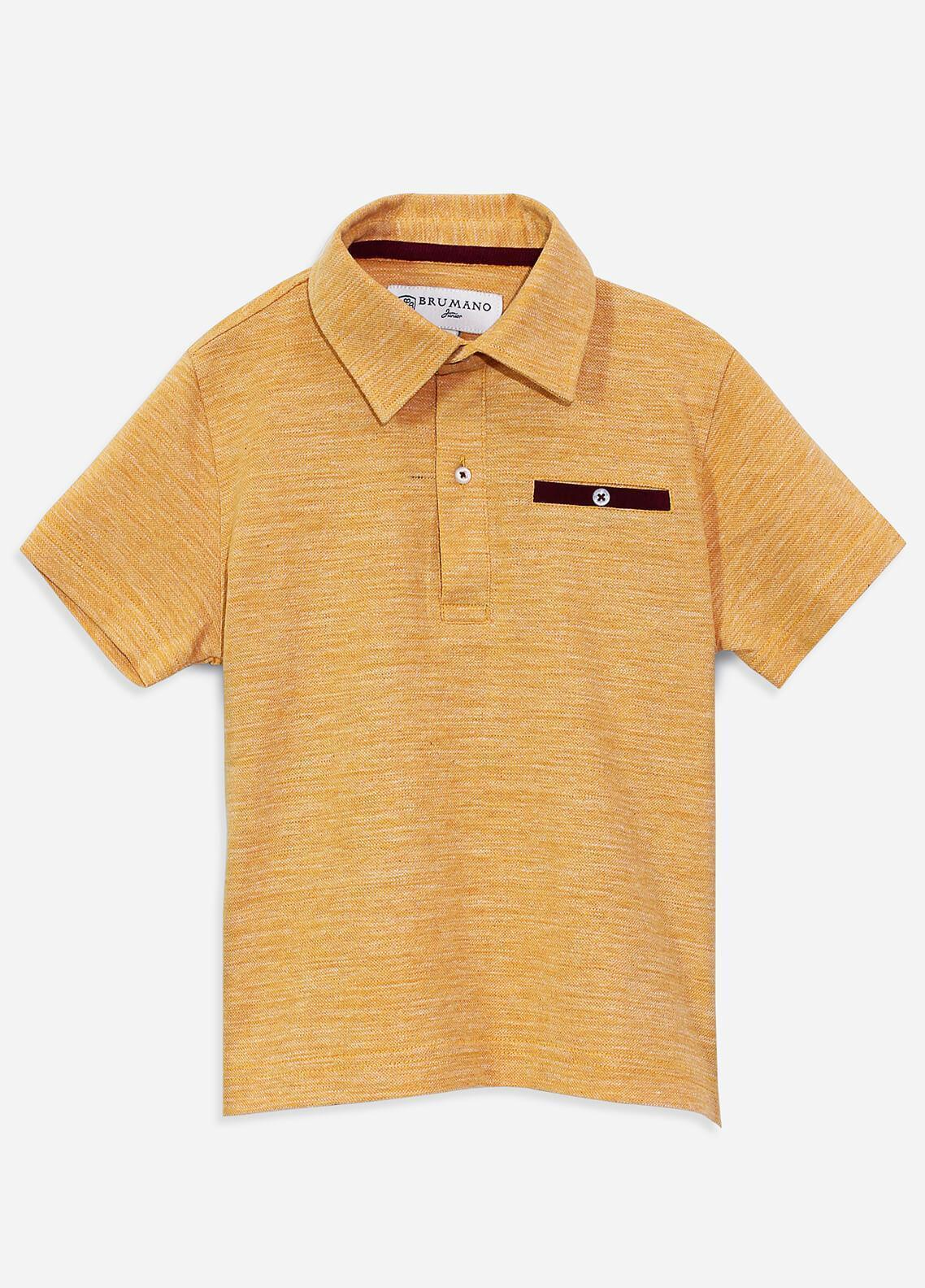 Brumano Cotton Polo Shirts for Boys - Mustard BRM-090