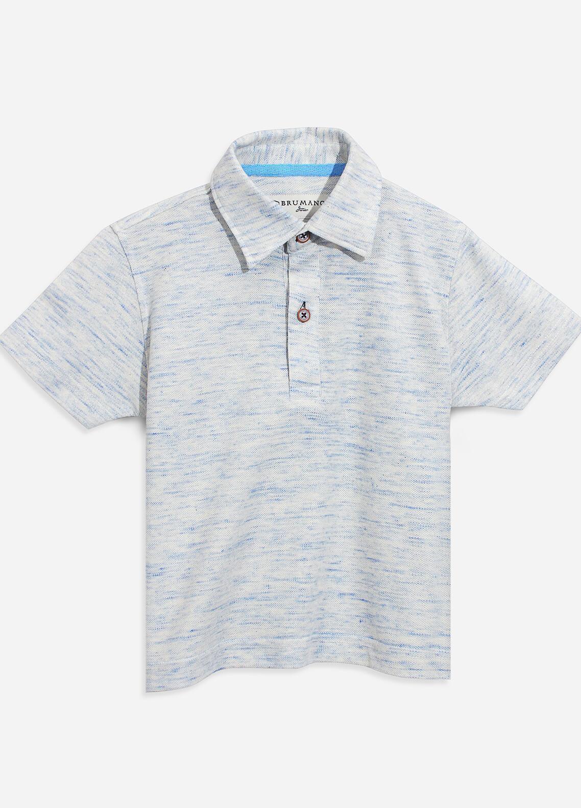 Brumano Cotton Polo Shirts for Boys - Grey BRM-101