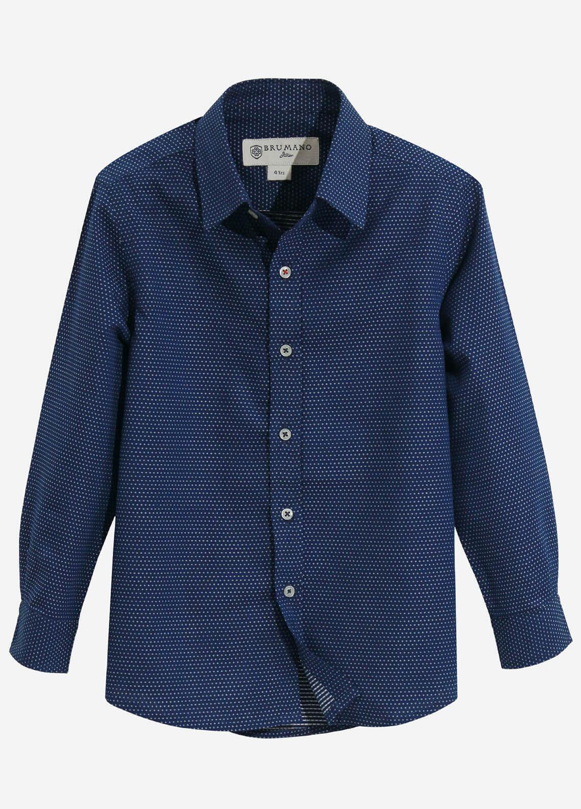 Brumano Cotton Casual Shirts for Boys - Navy Blue BRM-565