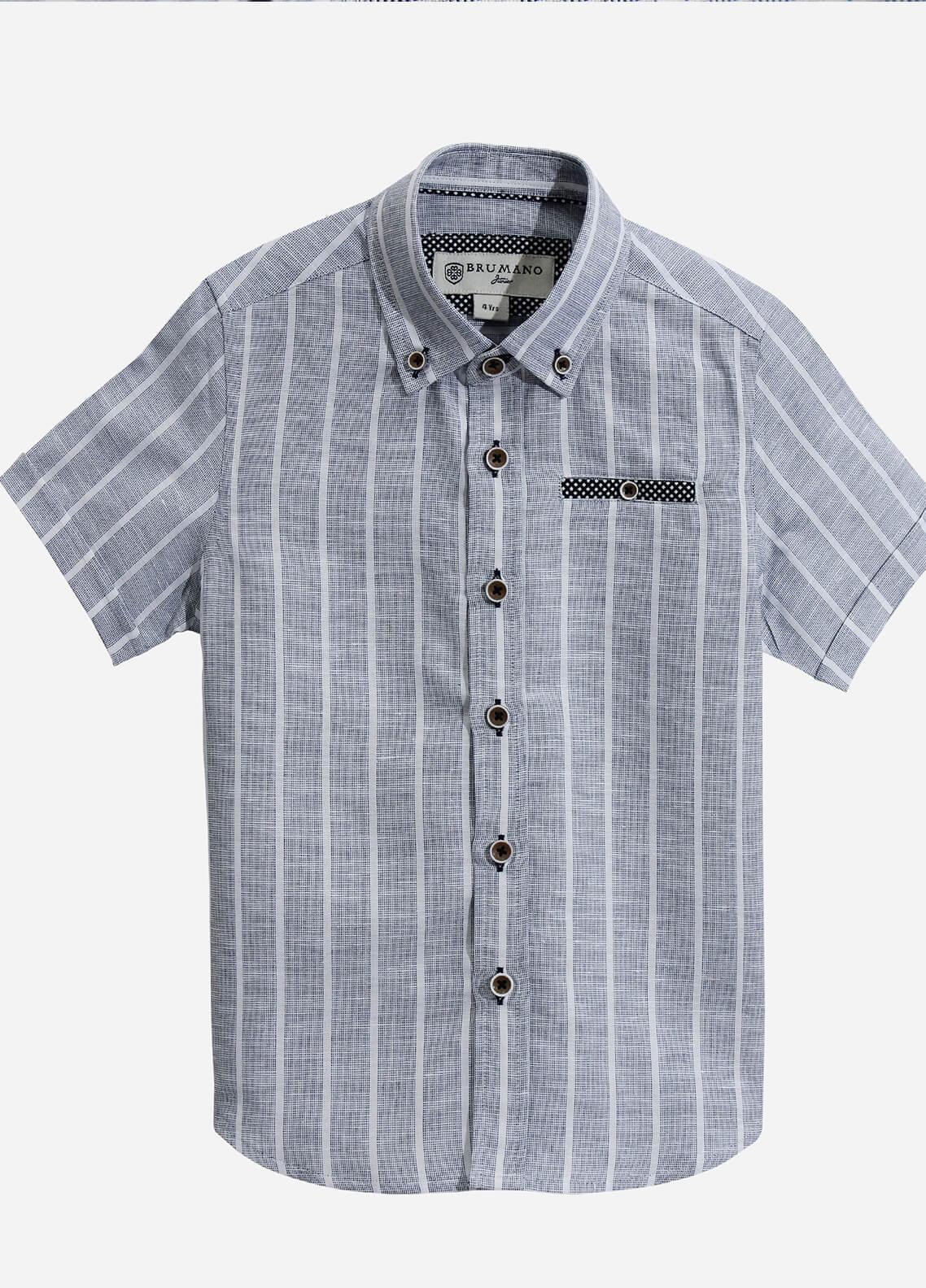 Brumano Cotton Casual Boys Shirts - Blue BRM-600