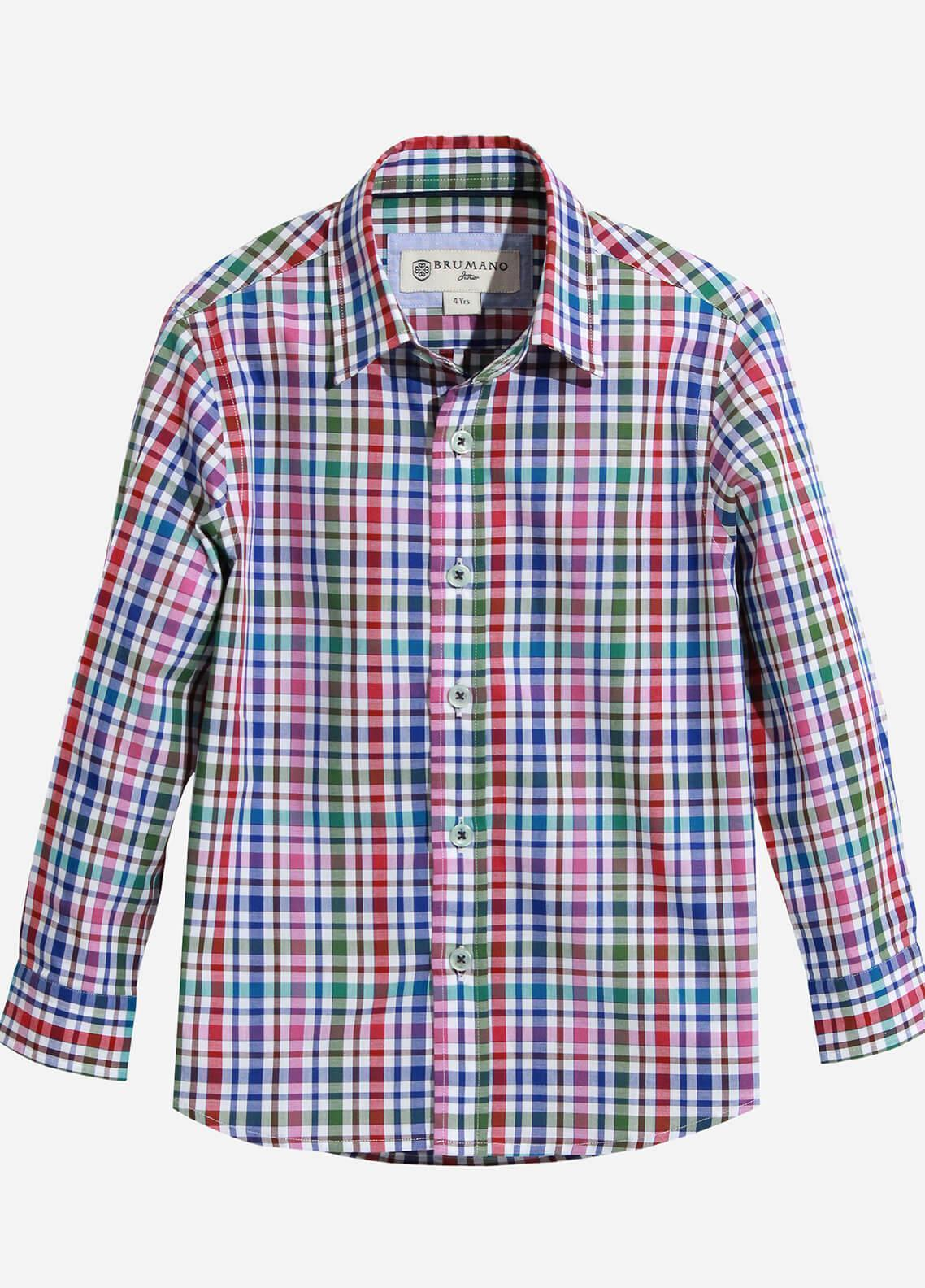 Brumano Cotton Casual Shirts for Boys - Multi BRM-604