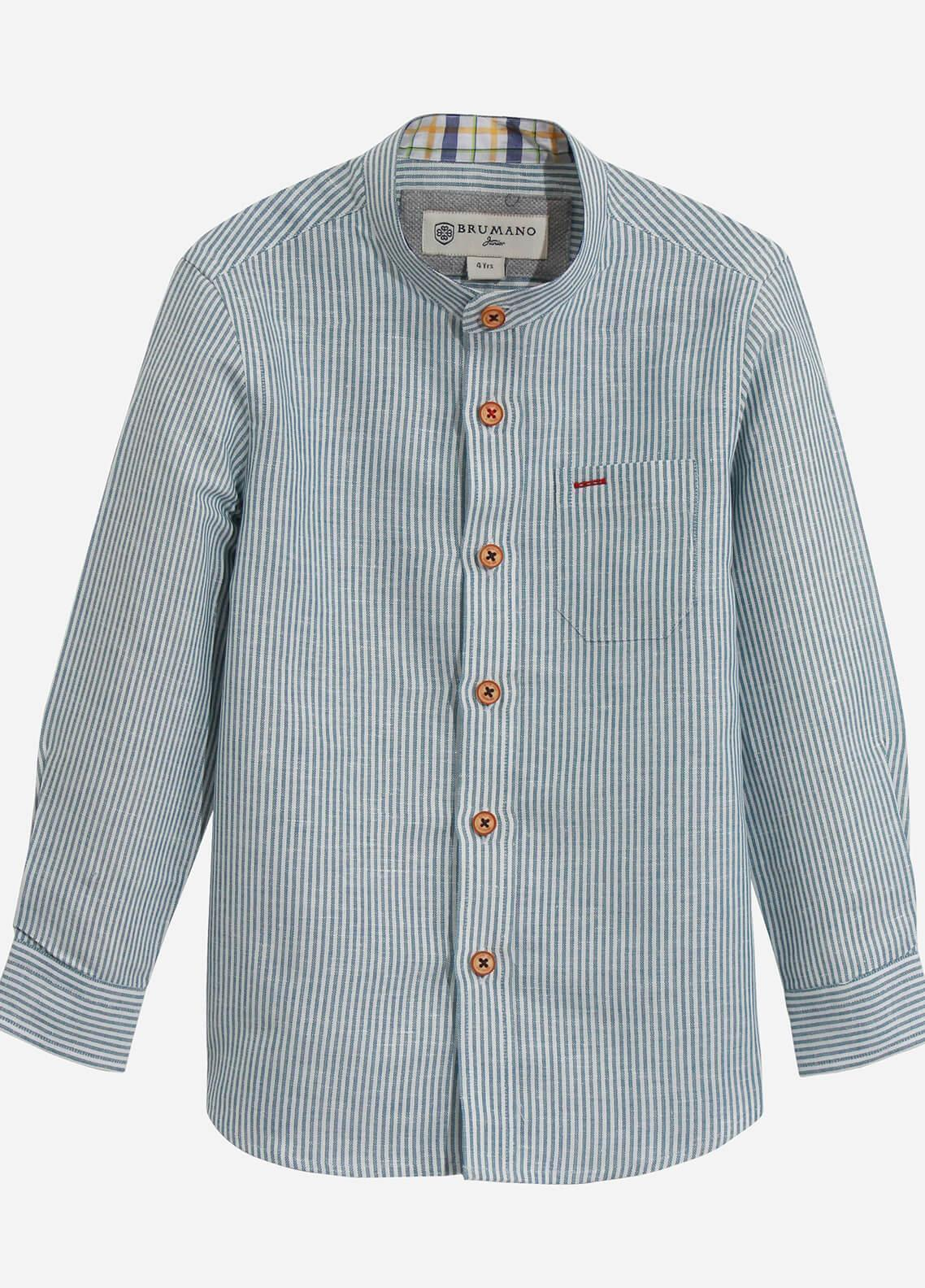 Brumano Cotton Casual Shirts for Boys - Turquoise BRM-625