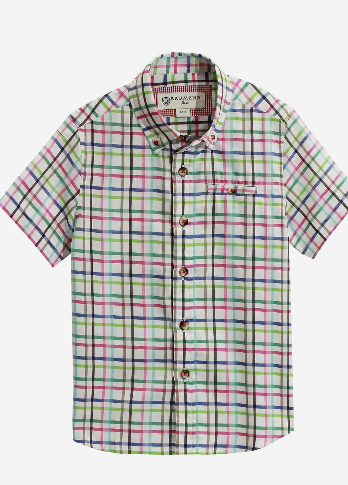 Brumano Cotton Casual Shirts for Boys - Multi BRM-808
