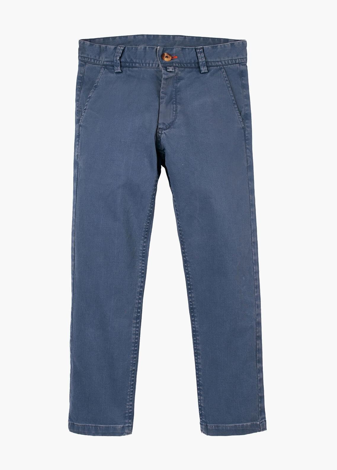 Brumano Cotton Casual Trousers for Boys - Blue BRM-555