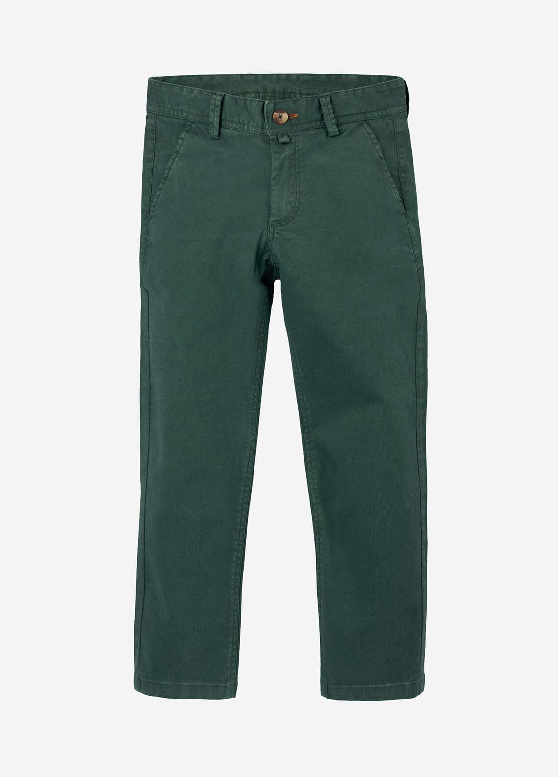 Brumano Cotton Casual Trousers for Boys -  BRM-555-Green