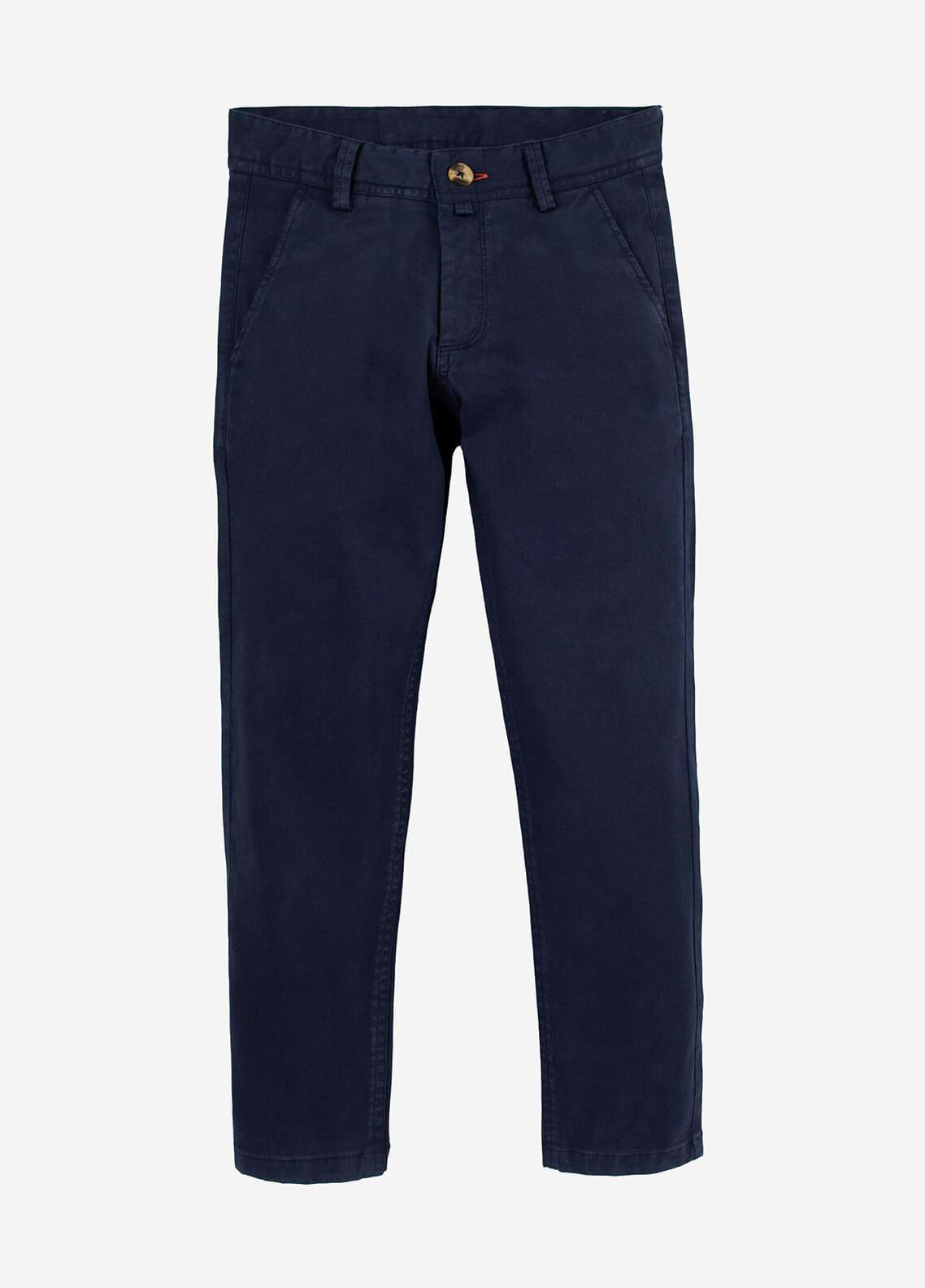 Brumano Cotton Casual Trousers for Boys -  BRM-555-Navy