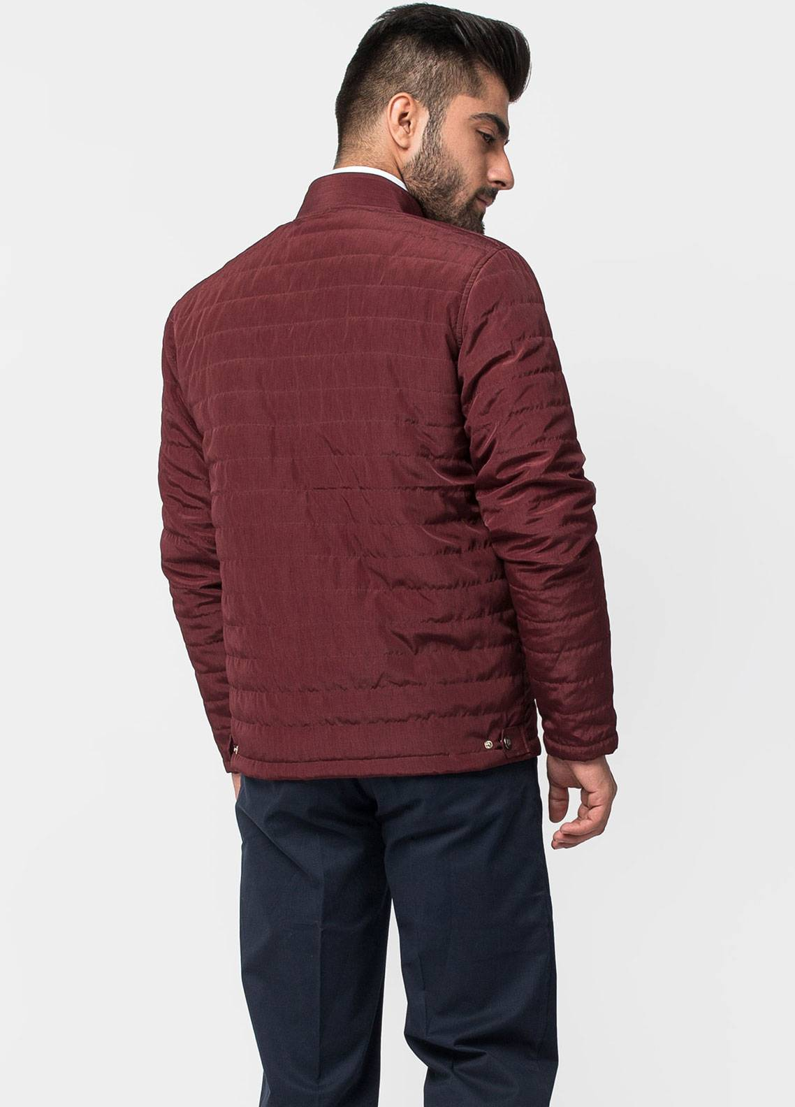 Brumano Polyester Full Sleeves Men Jackets - Burgundy BRM-11-1008