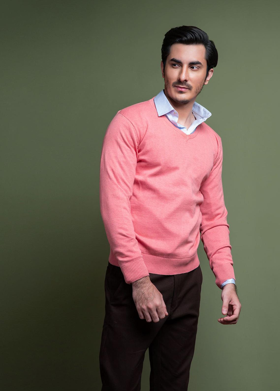 Brumano Cotton Full Sleeves Men V-Neck Sweaters -  FS-011