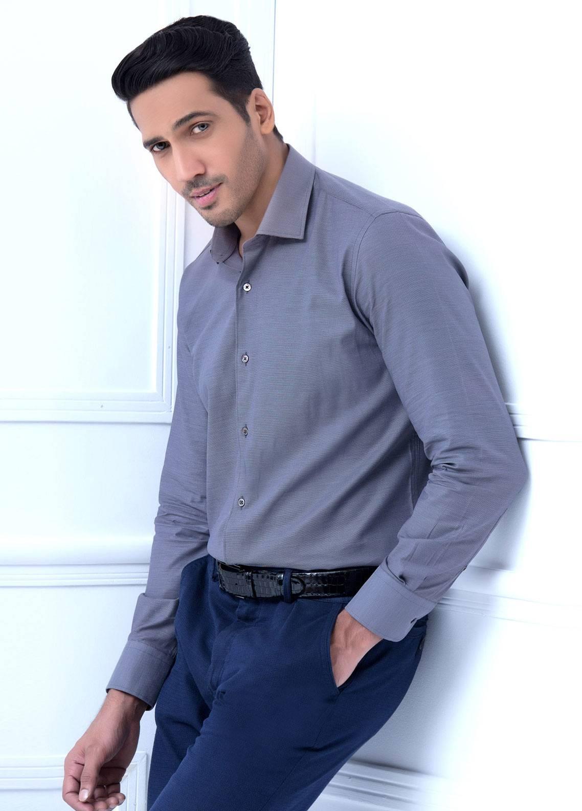 Brumano Cotton Formal Men Shirts   Grey BRM 186