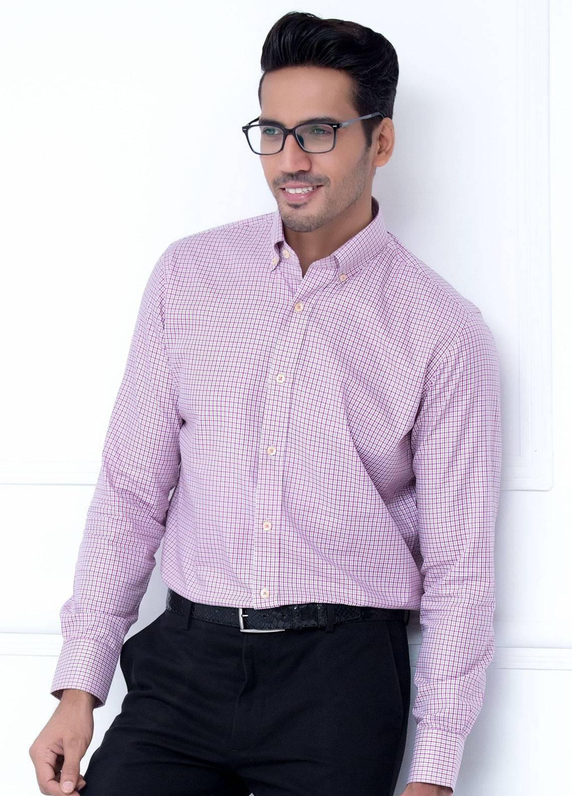 Brumano Cotton Formal Men Shirts   Pink BRM 188