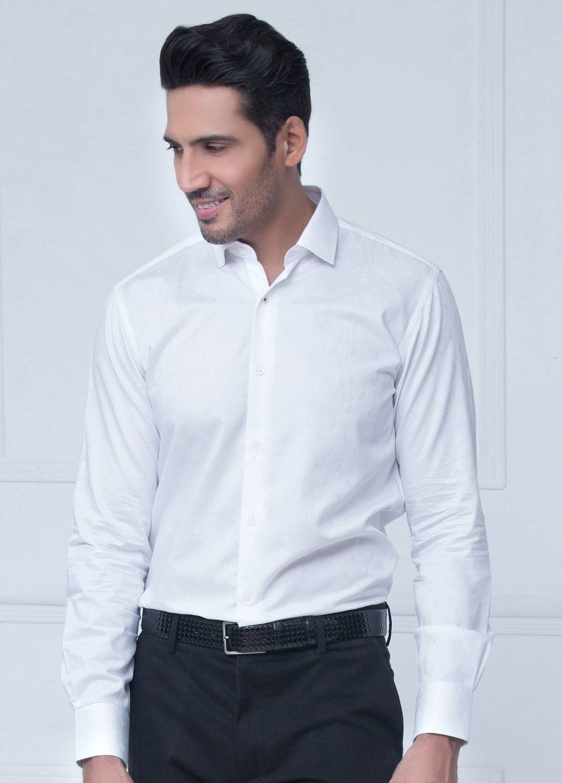 Brumano Cotton Formal Shirts for Men   White BRM 192 A