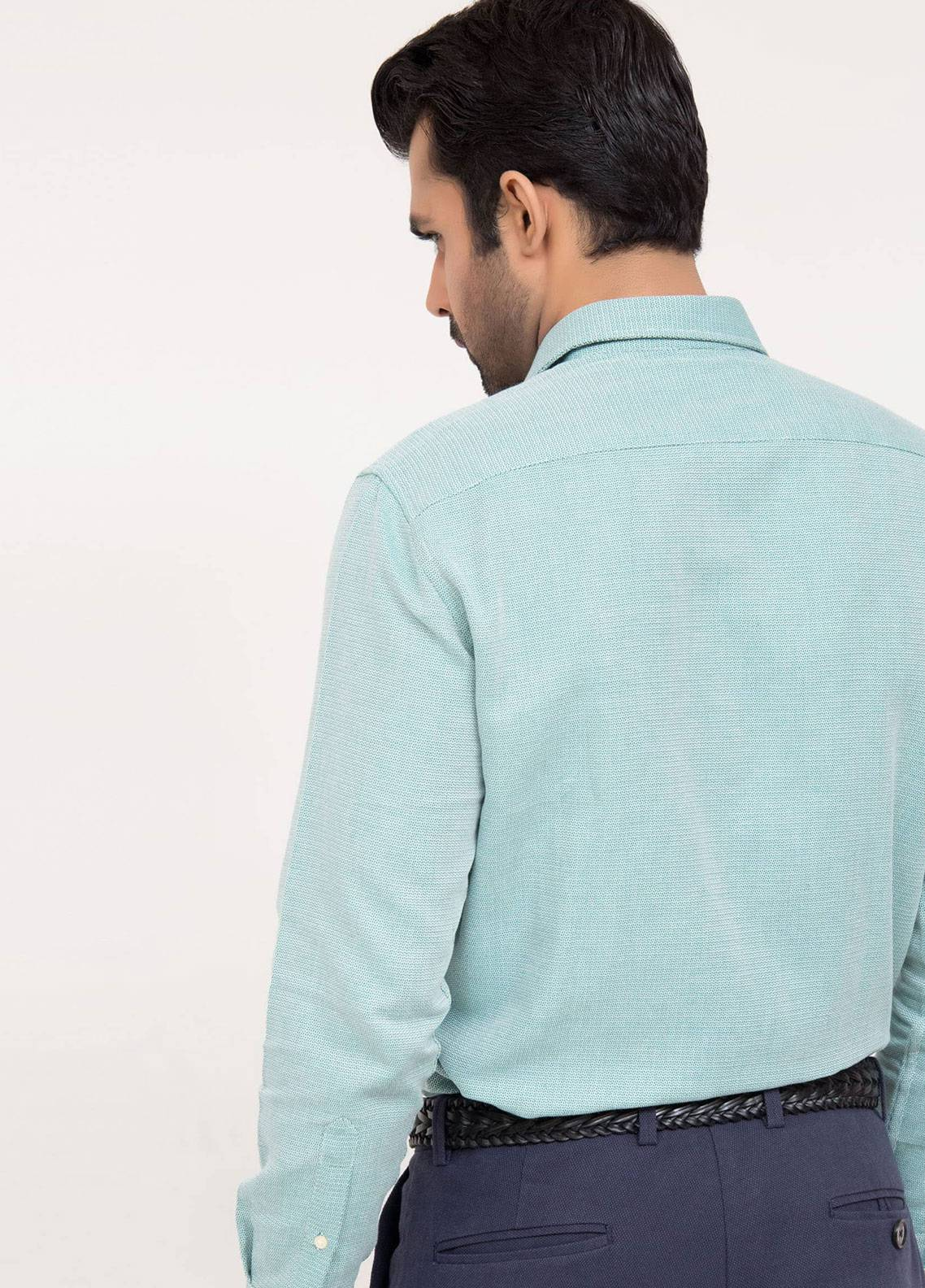 Brumano Cotton Formal Shirts for Men Green BRM 304