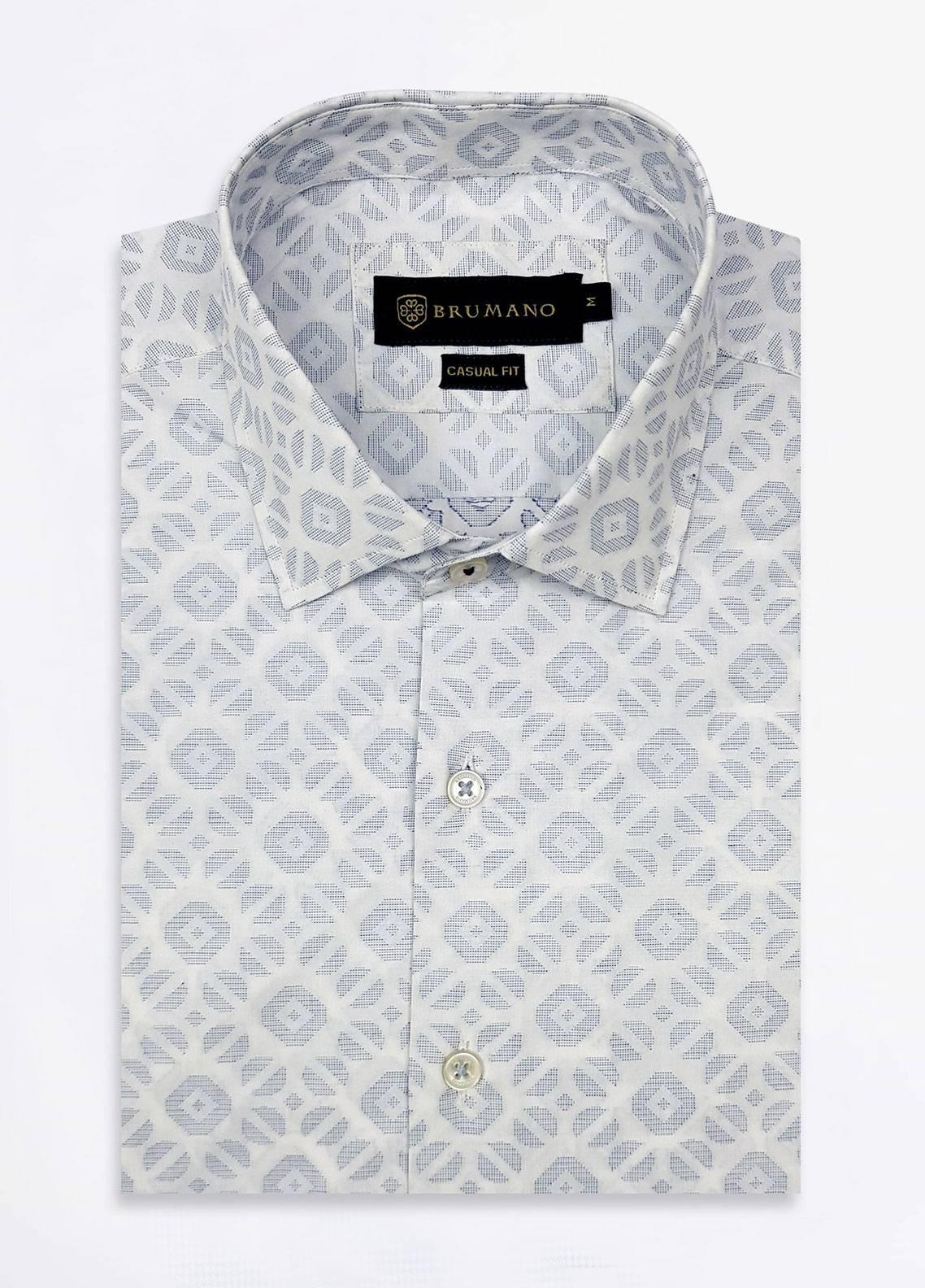Brumano Cotton Formal Men Shirts - White BRM-520