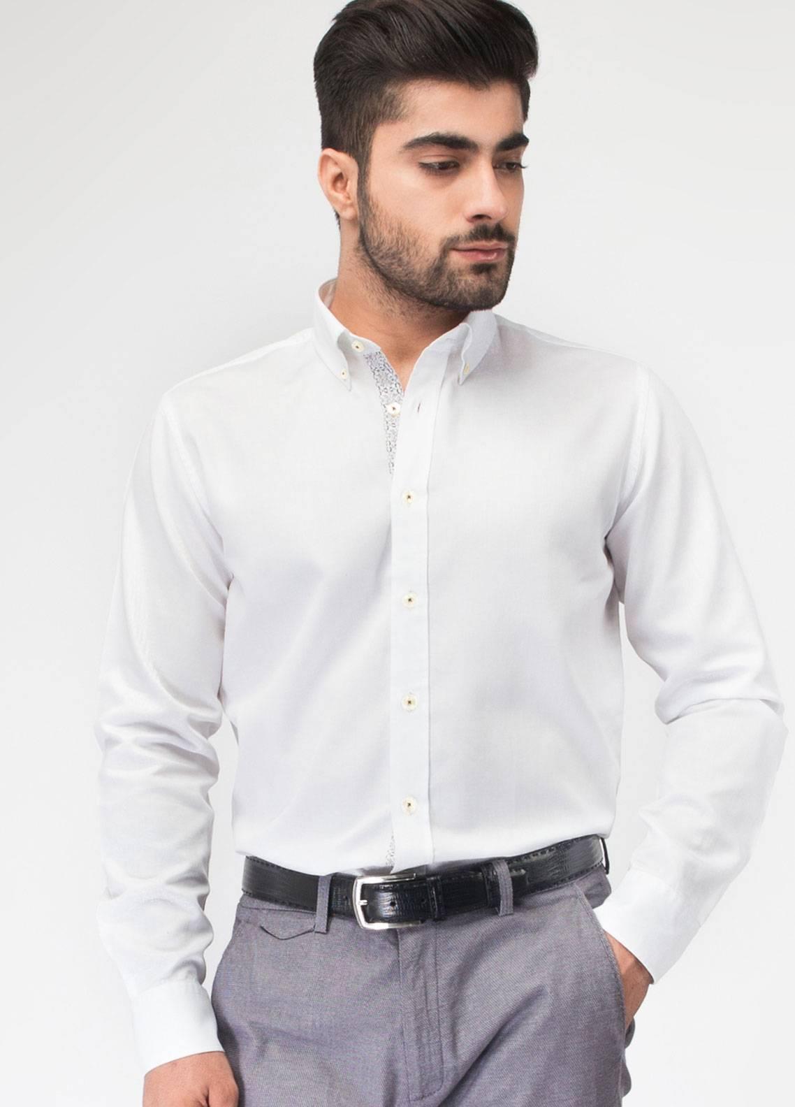 Brumano Cotton Formal Shirts for Men - White BRM-542