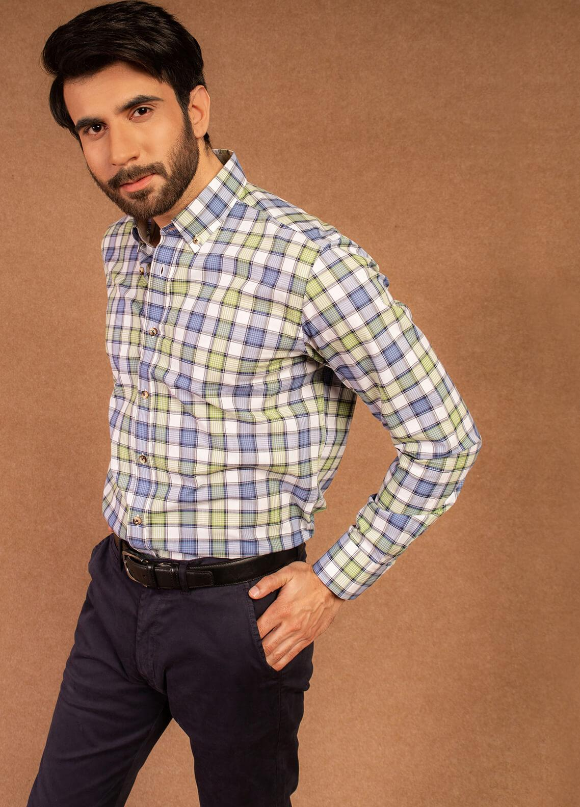 Brumano Cotton Formal Men Shirts - White BRM-575