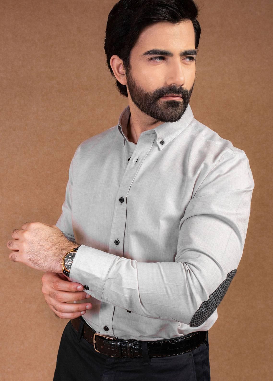 Brumano Cotton Formal Men Shirts - Grey BRM-596