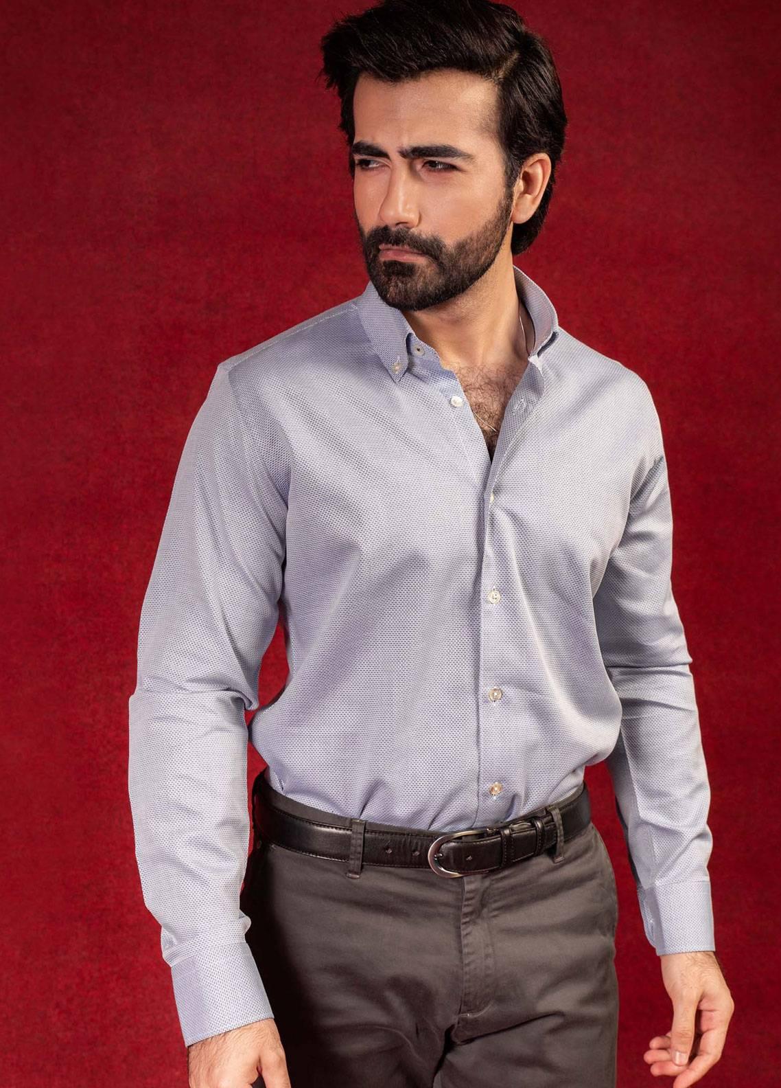 Brumano Cotton Formal Shirts for Men - Grey BRM-603