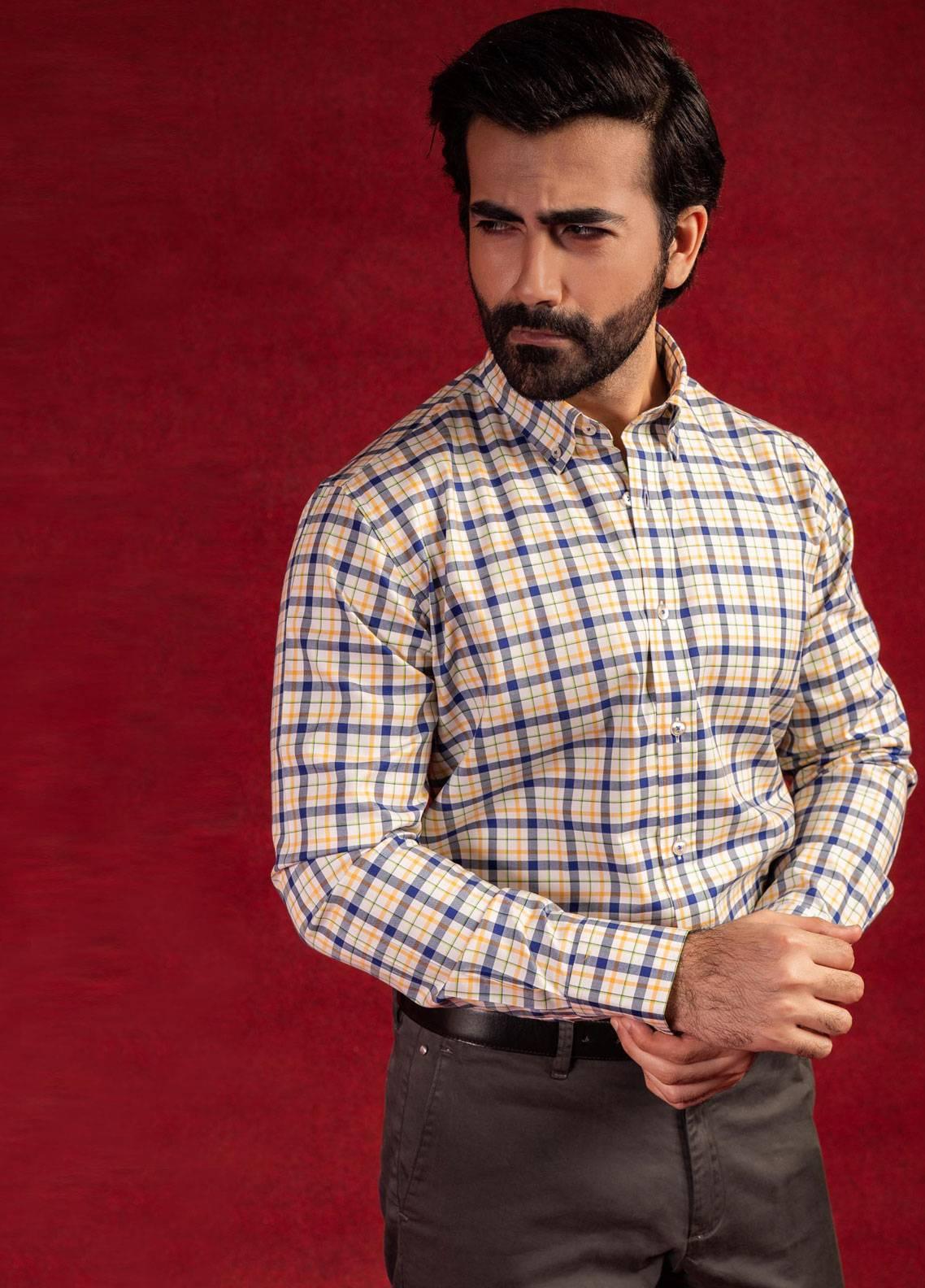 Brumano Cotton Formal Men Shirts - White BRM-614