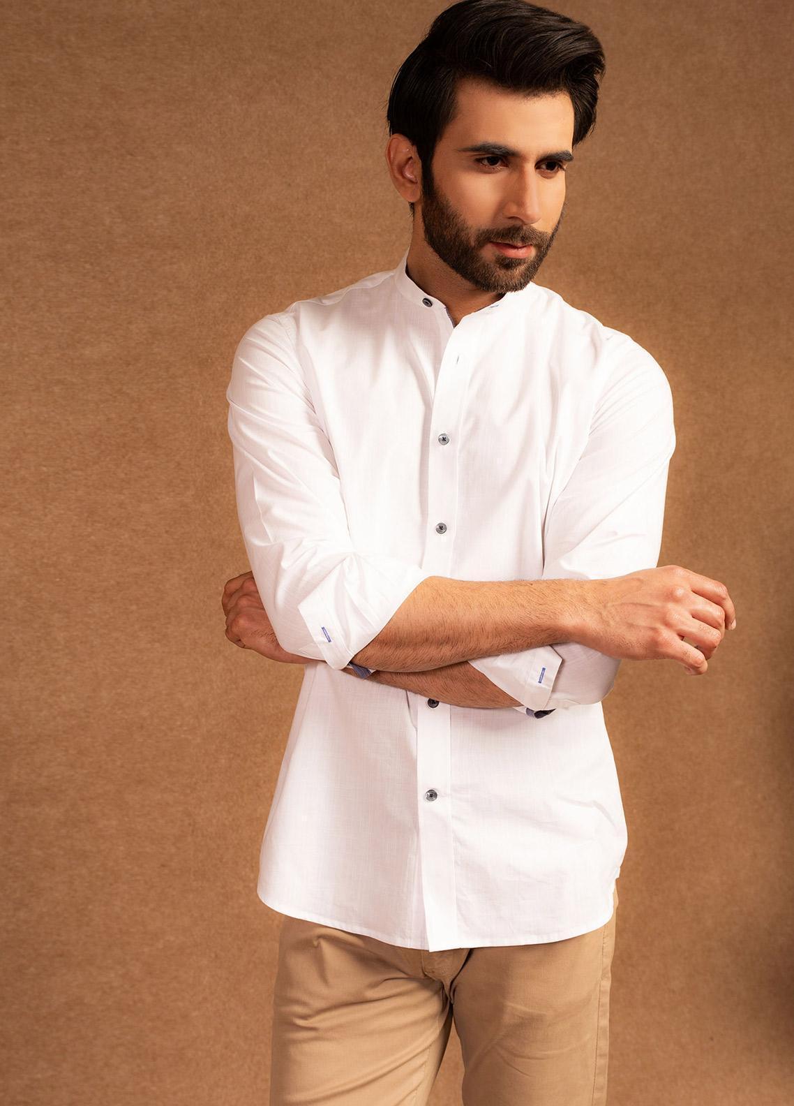 Brumano Cotton Formal Men Shirts - White BRM-627
