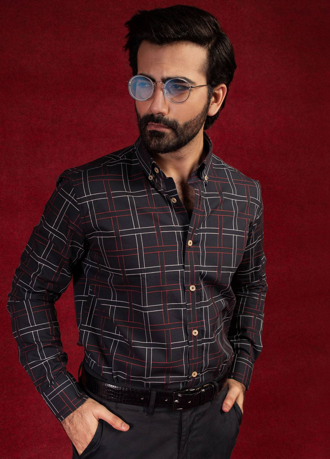 Brumano Cotton Formal Shirts for Men - Black BRM-652