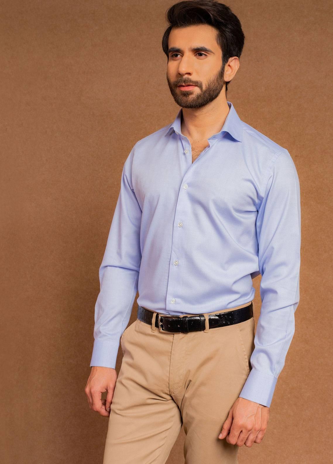 Brumano Cotton Formal Shirts for Men - Blue BRM-663