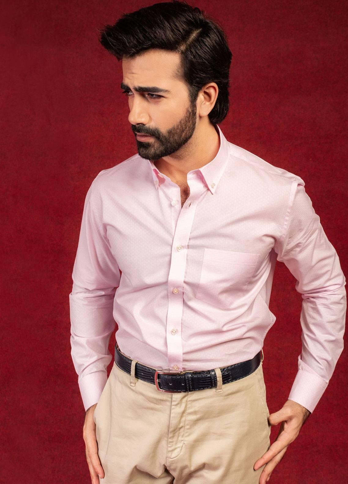 Brumano Cotton Formal Shirts for Men - Pink BRM-680