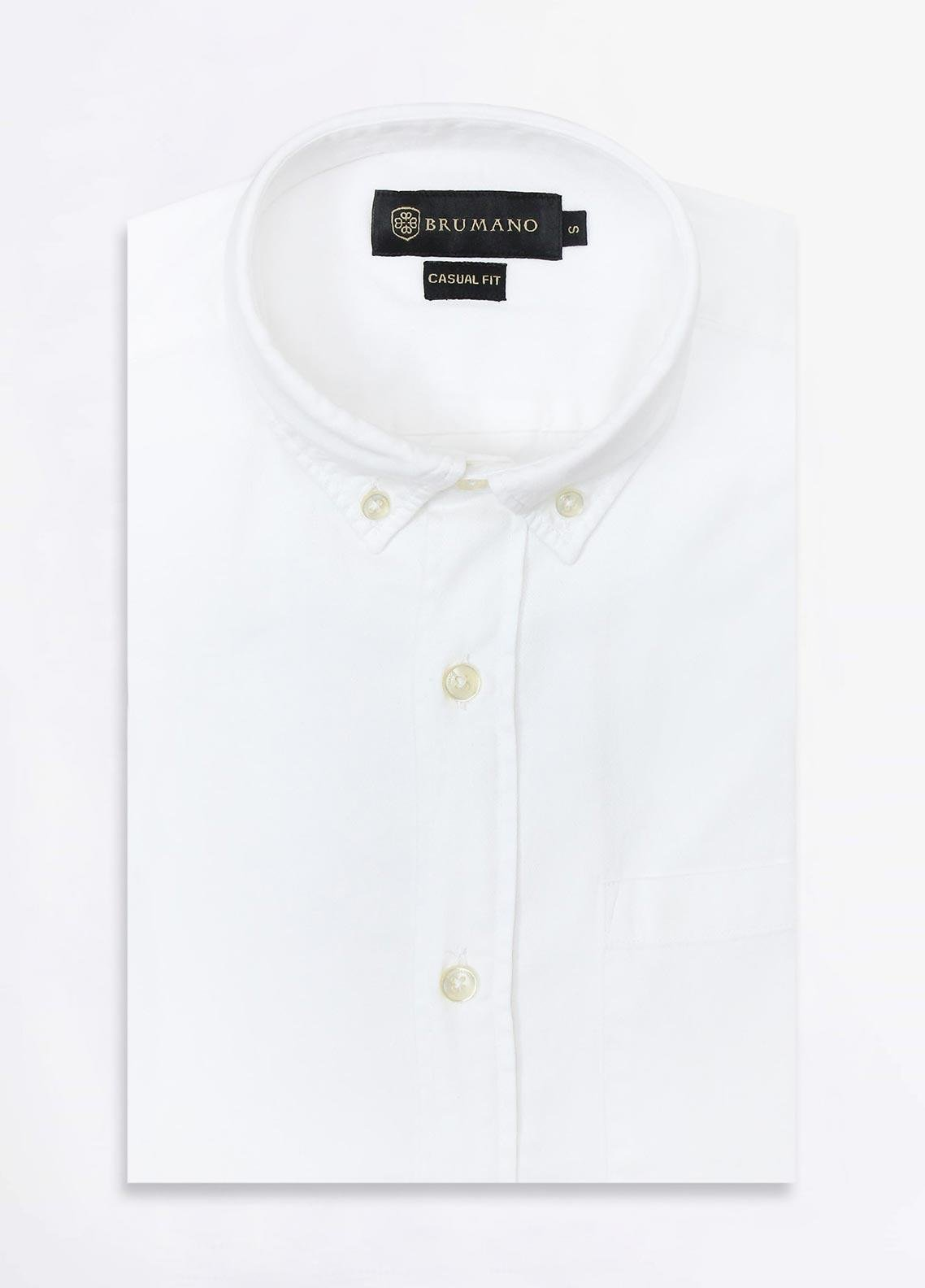 Brumano Cotton Formal Men Shirts -  BRM-852-White