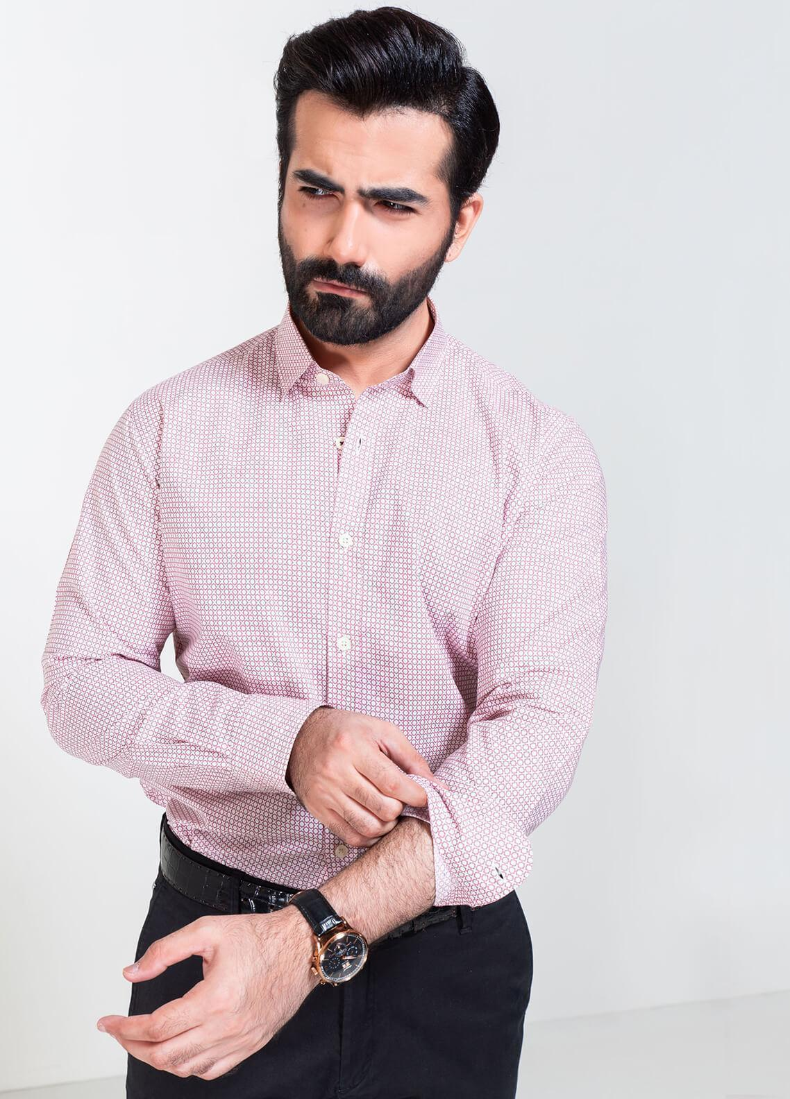 Brumano Cotton Formal Men Shirts - Pink BRM-862