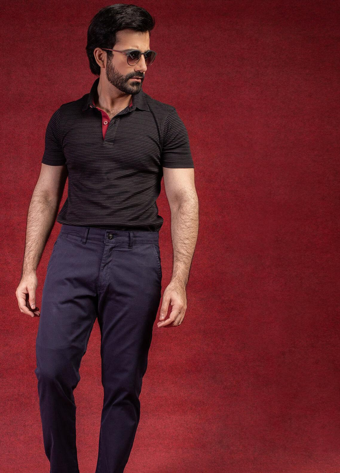 Brumano Cotton Polo Shirts for Men - Black BRM-41-0095