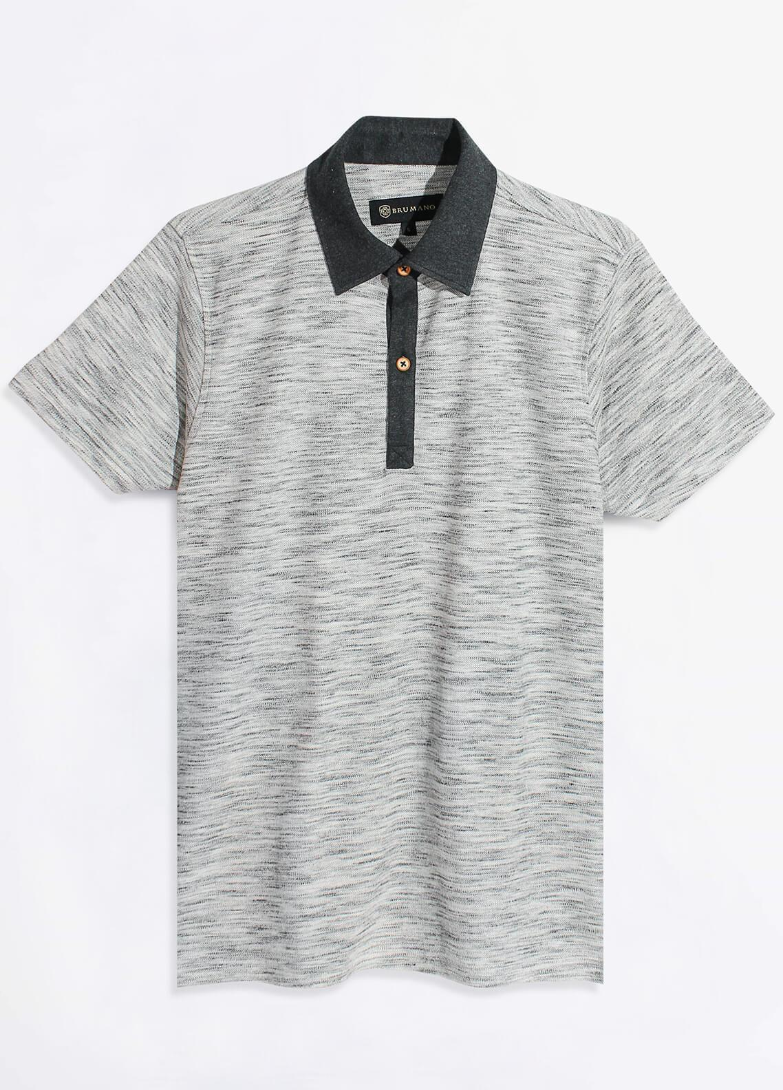 Brumano Cotton Polo Men Shirts - Grey BRM-103