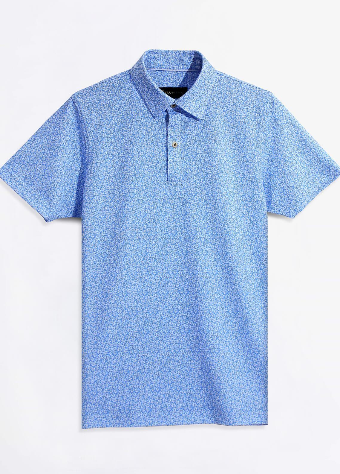 Brumano Cotton Polo Shirts for Men - Blue BRM-41-982