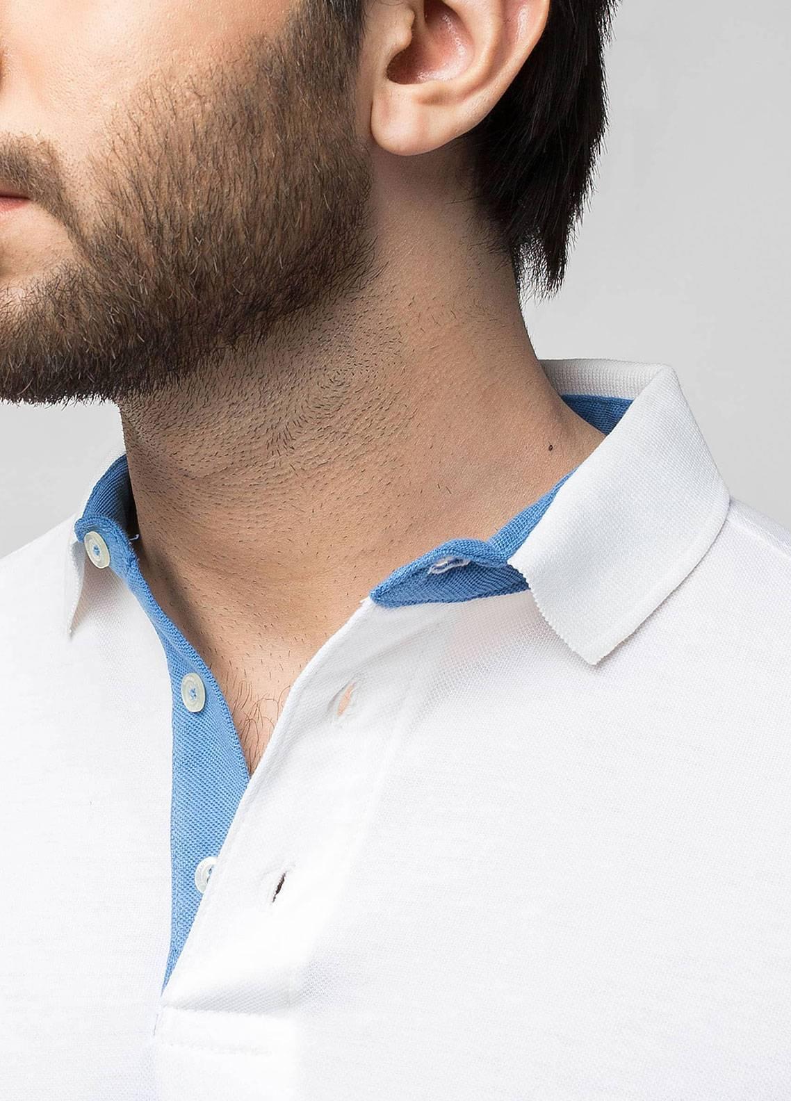 Brumano Cotton Polo Shirts for Men - White BRM-44-021