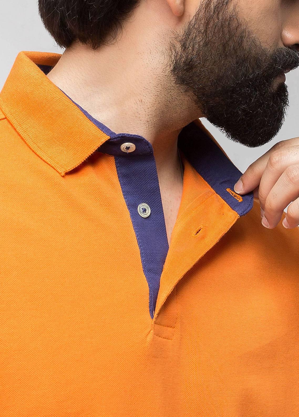 Brumano Cotton Polo Men Shirts - Orange BRM-44-121