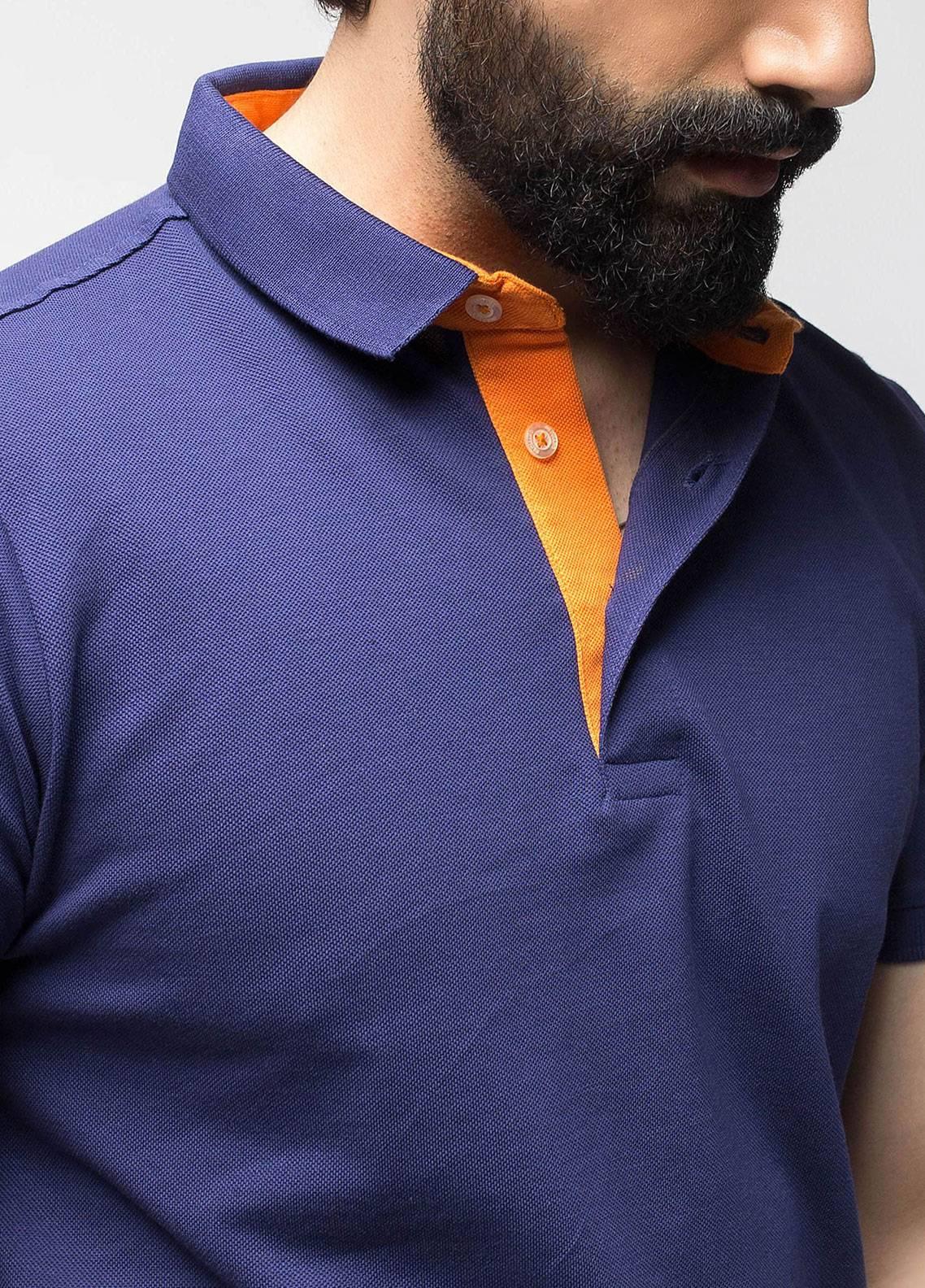 Brumano Cotton Polo Men Shirts - Navy Blue BRM-44-350