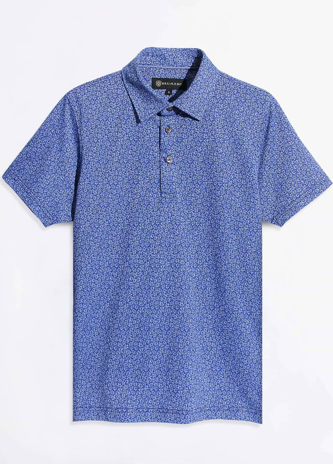 Brumano Cotton Polo Men Shirts - Blue BRM-977