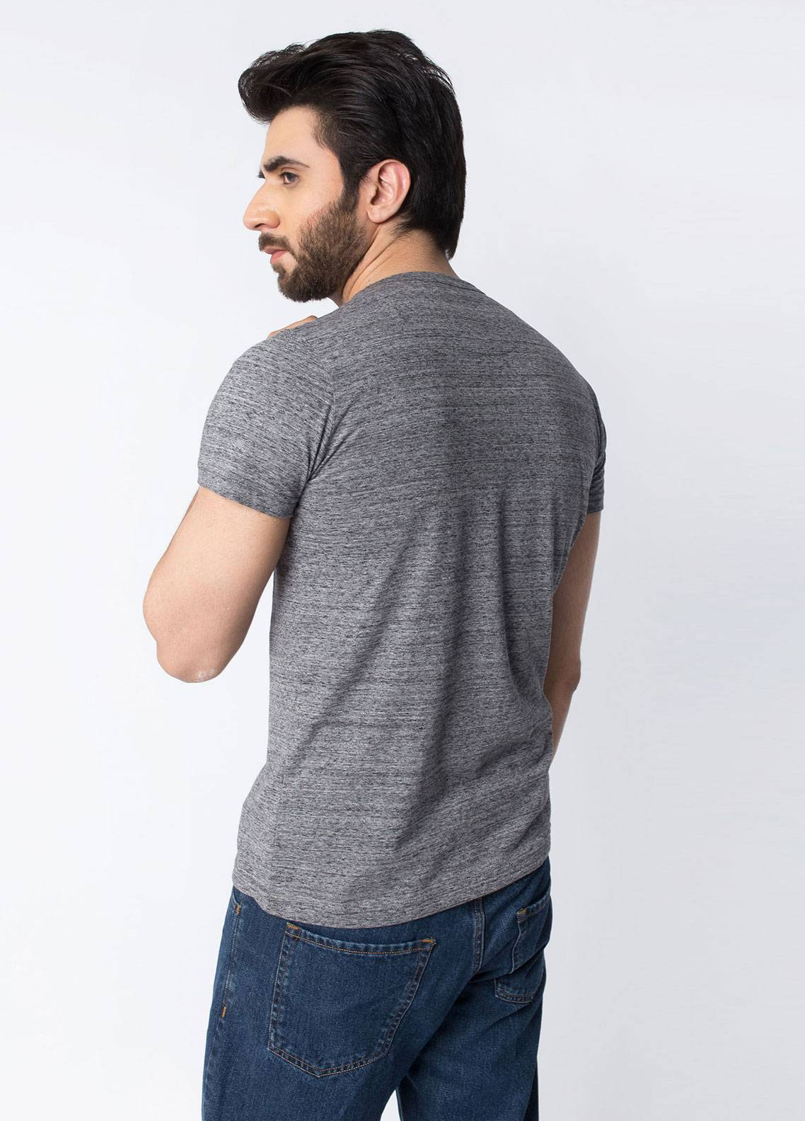 Brumano Cotton Casual Men T-Shirts - Charcoal BRM-42-977