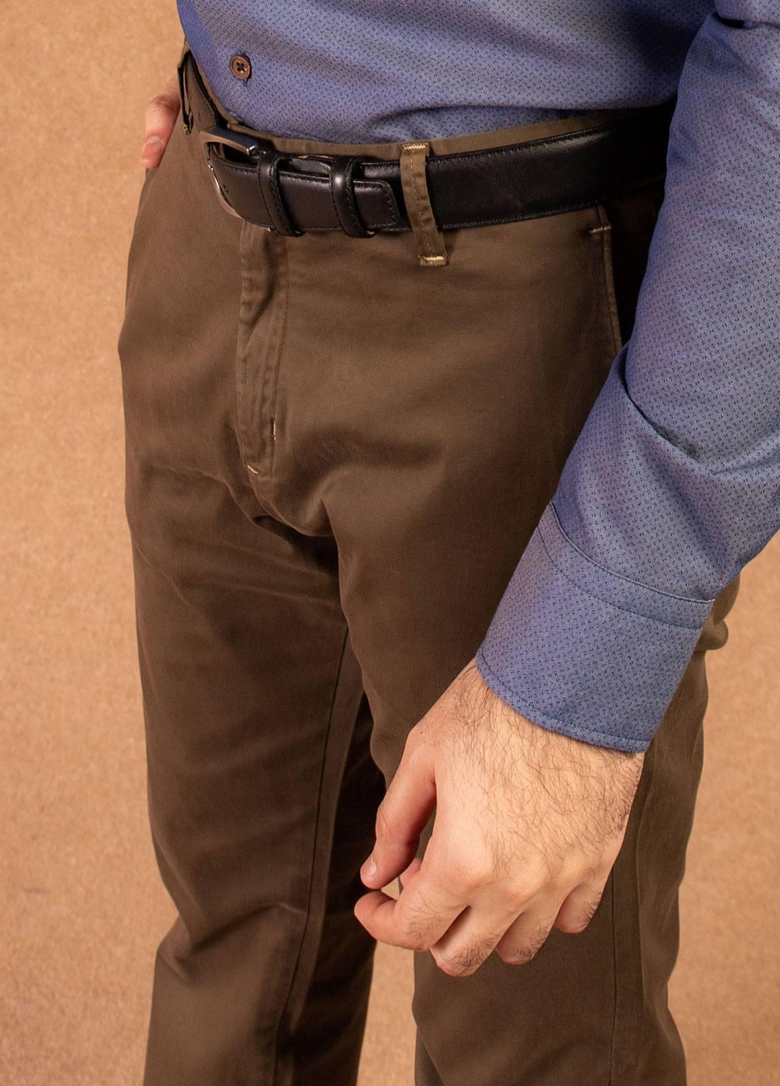 Brumano Cotton Formal Pants for Men -  BRM-008 Brown