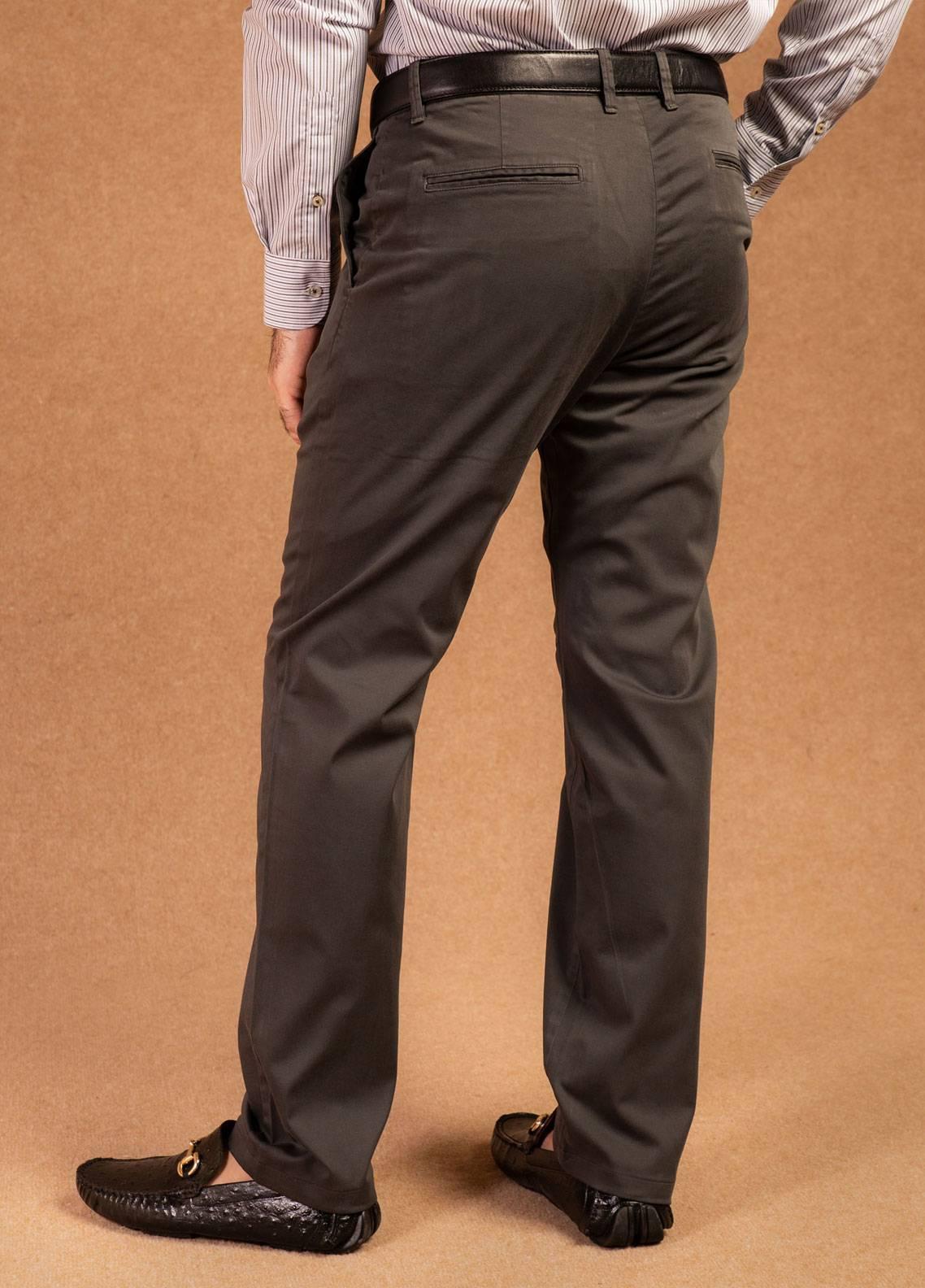 Brumano Cotton Formal Men Pants -  BRM-008 Grey