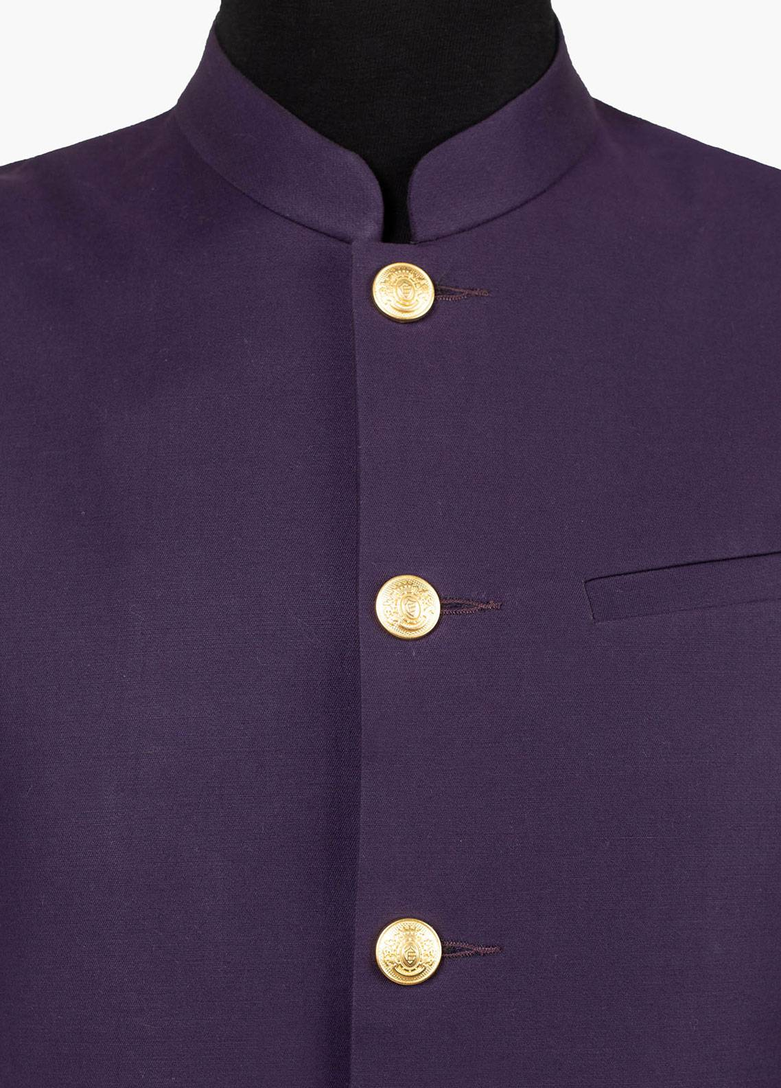 Brumano Cotton Formal Men Waistcoat - Purple BRM-511-B