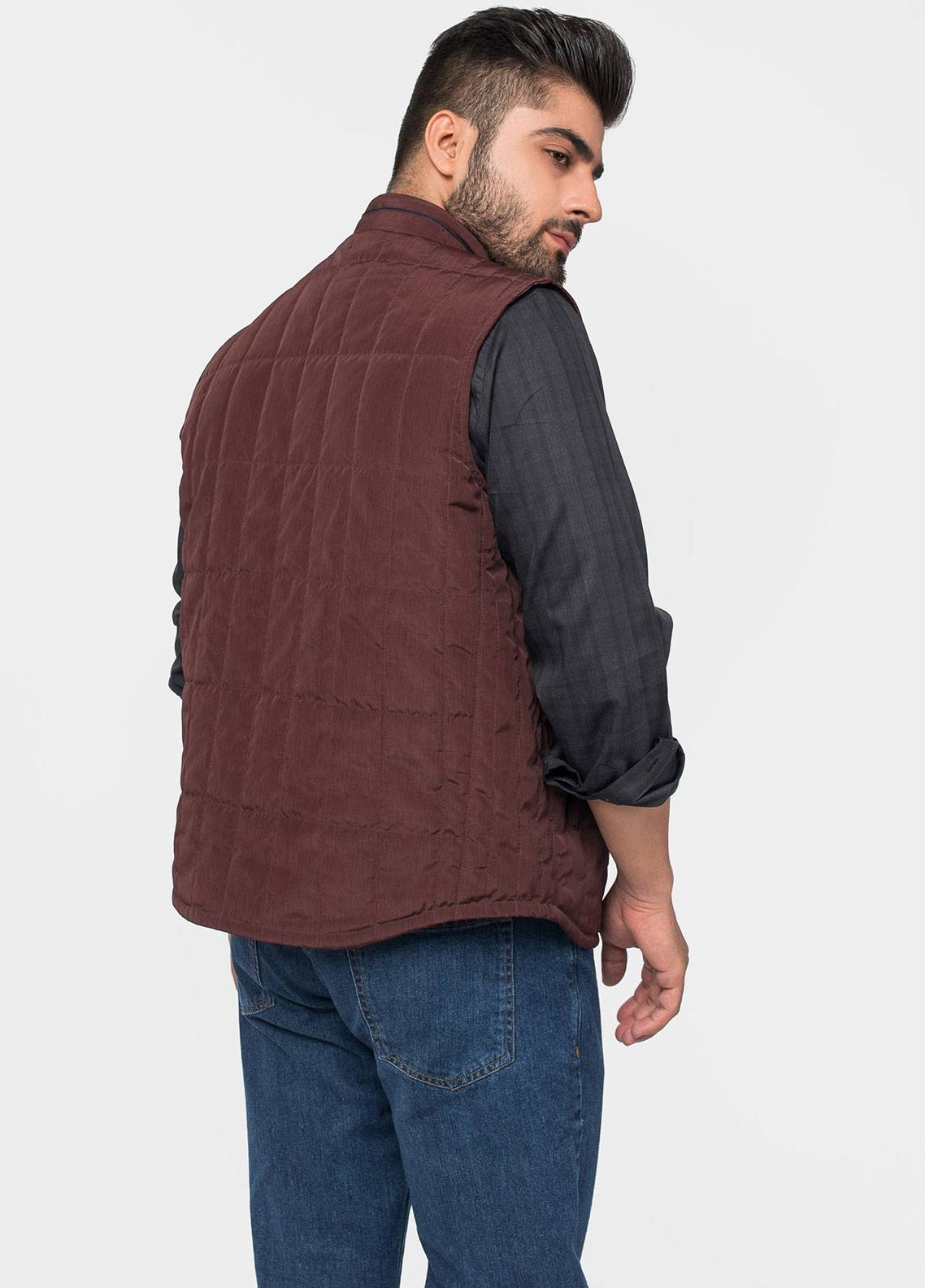 Brumano Polyester Sleeveless Jackets for Men - Maroon BRM-12-1002