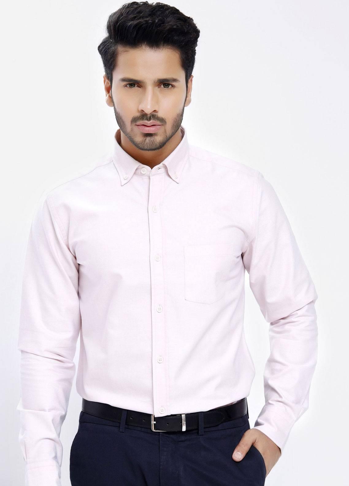 Brumano Cotton Formal Men Shirts   Pink BRM 158