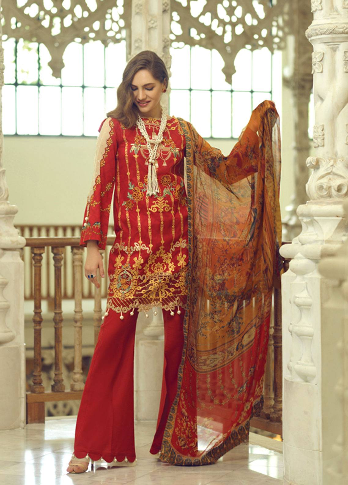 bc7ce27c32 Rang Rasiya Carnation Embroidered Lawn Unstitched 3 Piece Suit RRC19L 702A  - Spring / Summer Collection