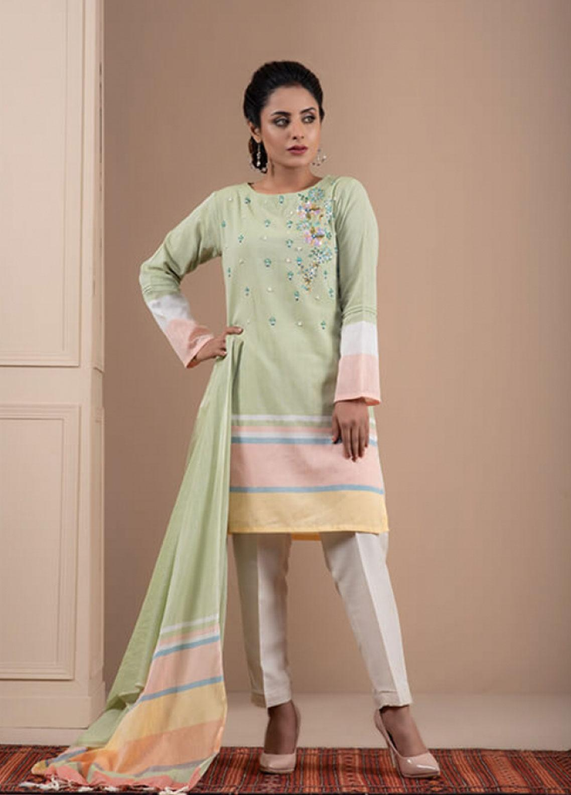 Change Embroidered Khaadi Stitched 2 Piece Suit CK2200