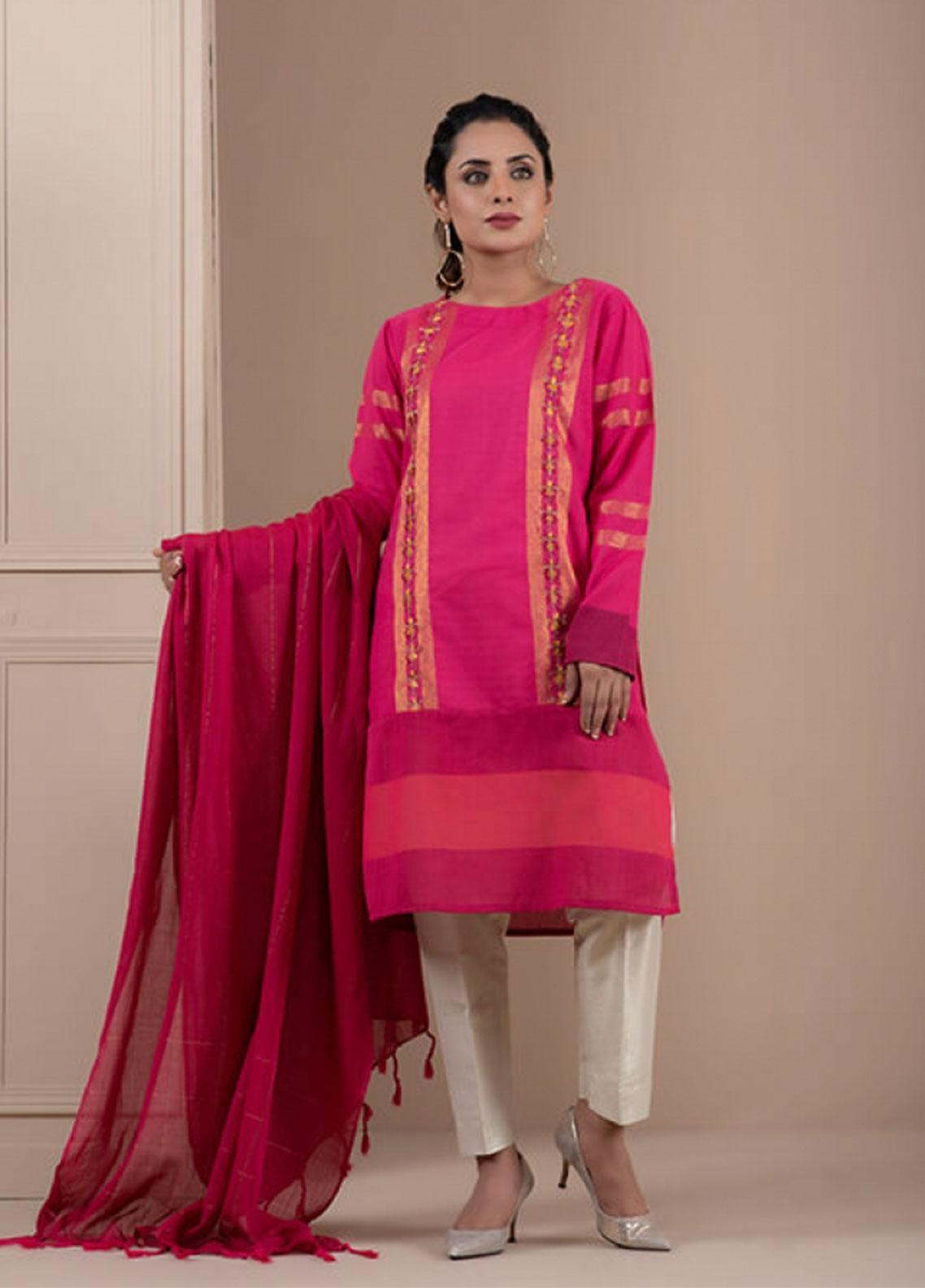 Change Embroidered Khaadi Stitched 2 Piece Suit CK2202