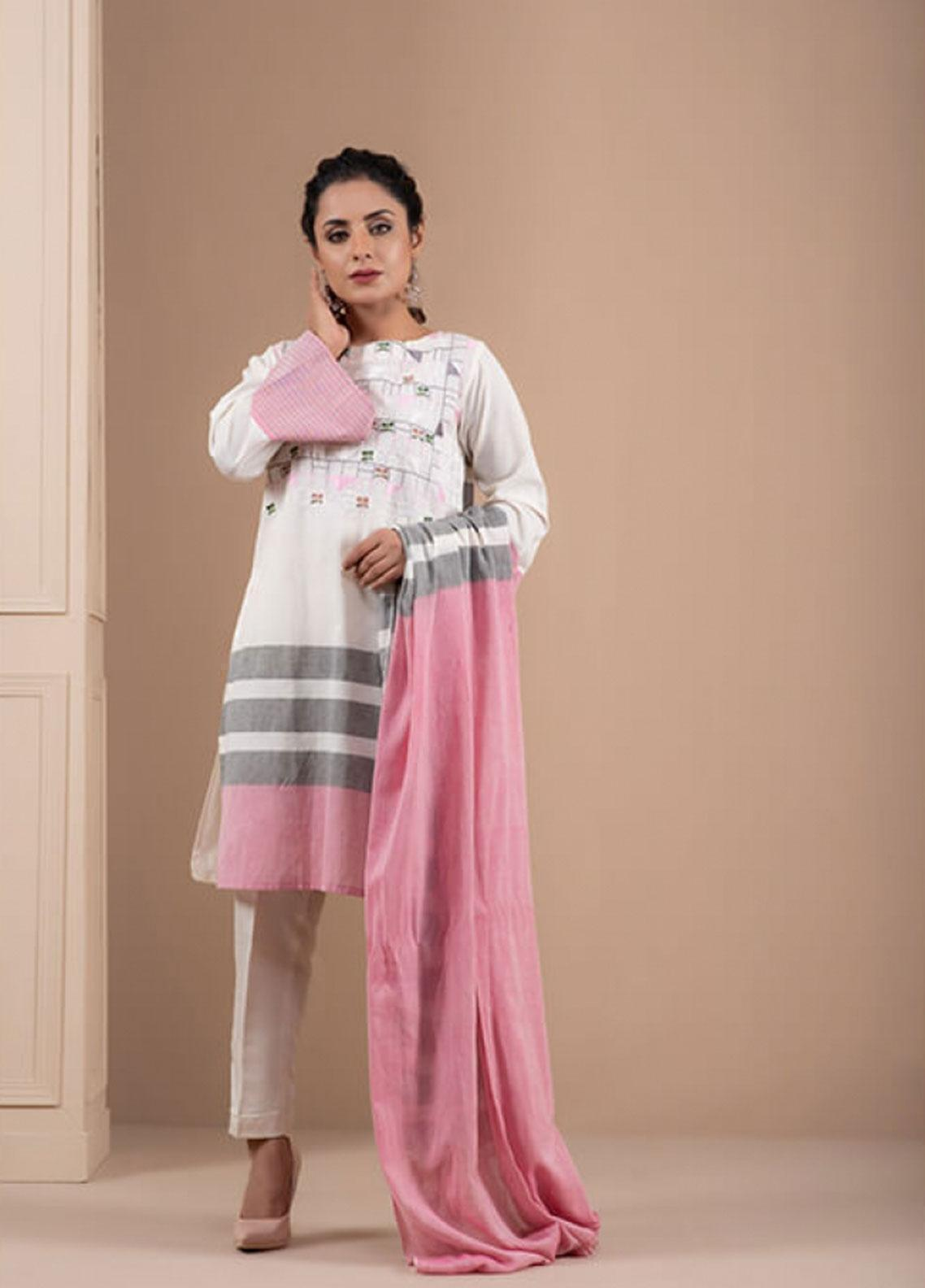 Change Embroidered Khaadi Stitched 2 Piece Suit CK2206