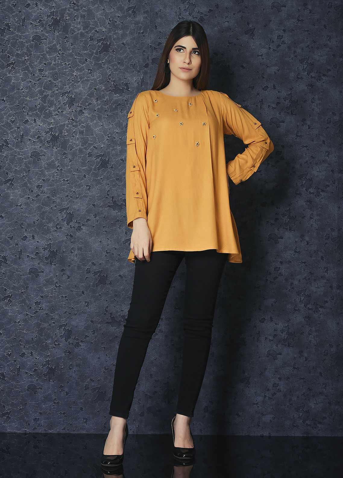 Change Casual Crepe Stitched Kurties CW1870