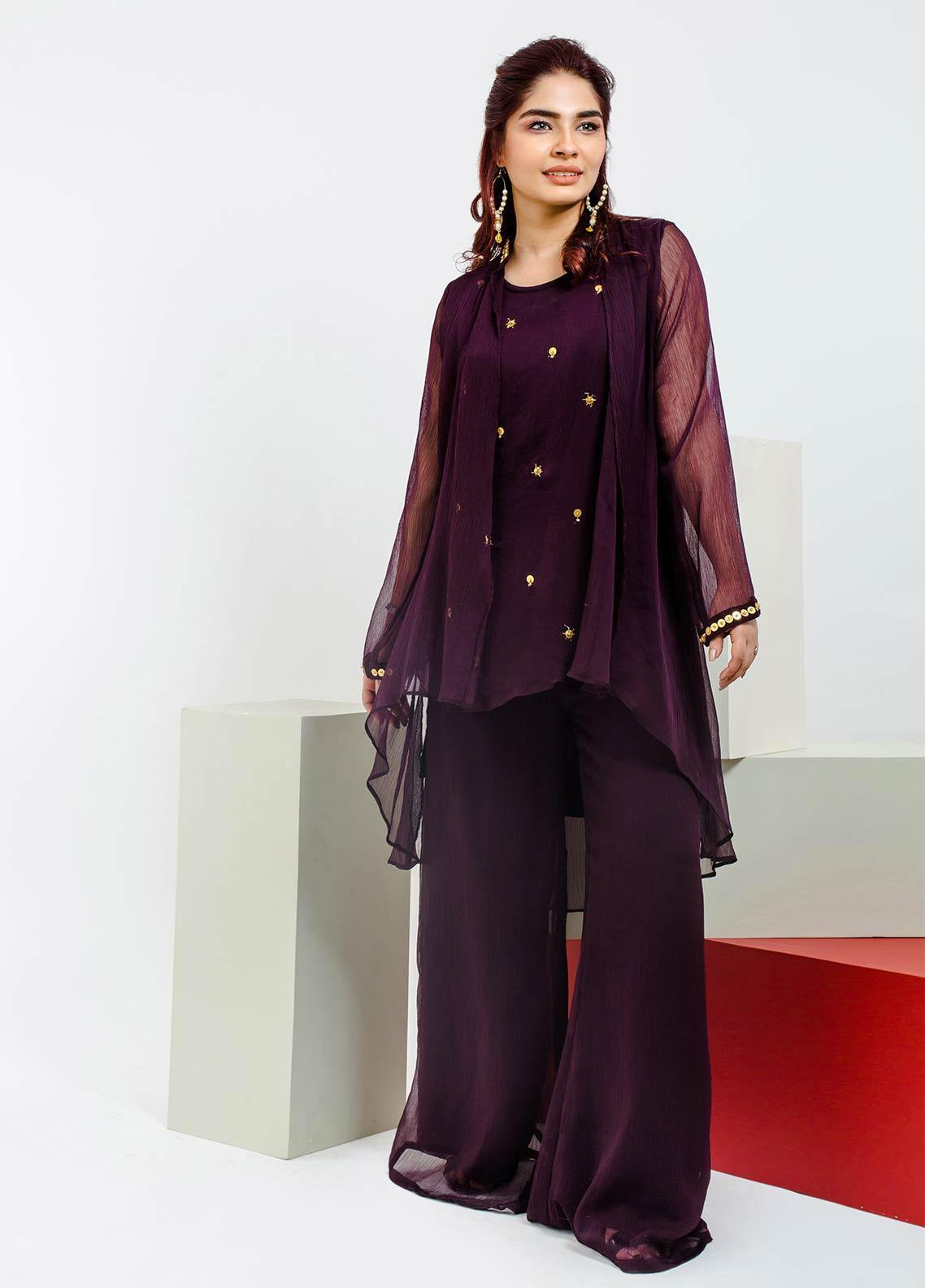 Change Embroidered Chiffon Stitched 2 Piece Suit CK2161 Mix