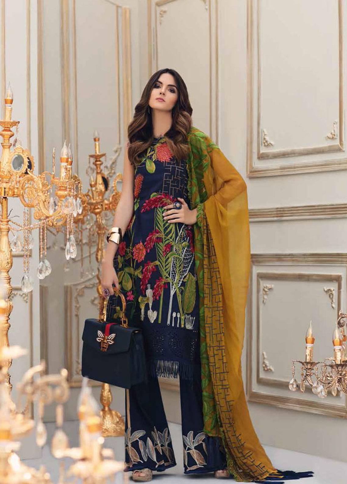 40ce1e40d4 Charizma Embroidered Lawn Unstitched 3 Piece Suit CRZ19L 01 - Spring ...