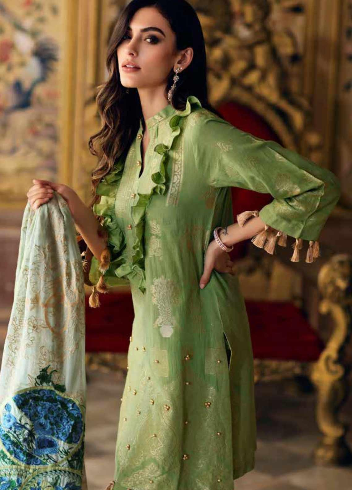 Charizma Embroidered Jacquard Unstitched 3 Piece Suit CRZ20J 04 Luxury Collection