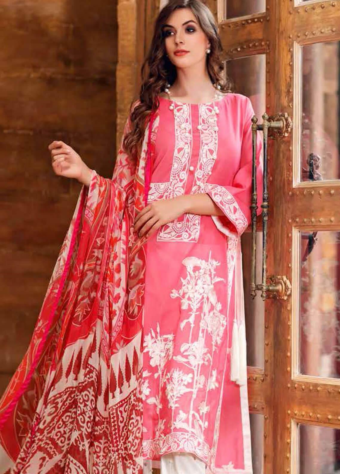Charizma Embroidered Swiss Voile Unstitched 3 Piece Suit CRZ19-S3 28 - Eid Collection